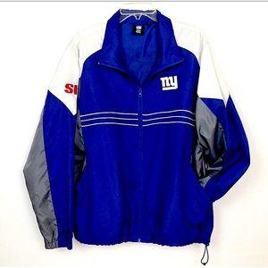 NFL Team Reebok New York Giants Windbreaker Size L